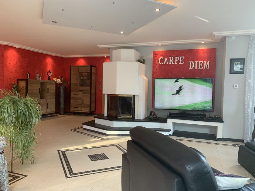 Wohnzimmer Modern : Wohnzimmer Modern Mit Kamin ~ Inspirierende ... Kamin Im Wohnzimmer Bis Zur Mitte